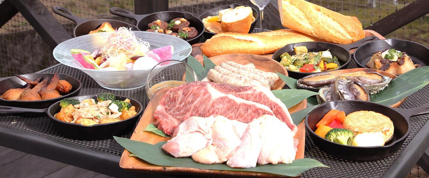 京都の丹後地方の新鮮食材をたっぷり使ったBBQ